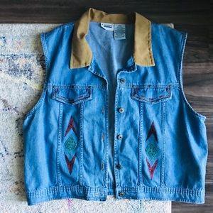 Jackets & Blazers - Western Denim Vest